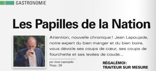 """Jean Lapoujade dans le dernier numéro du magazine """"Cigale""""."""