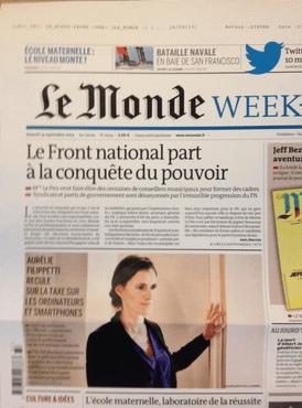 La manchette du Monde du 14 septembre 2013.