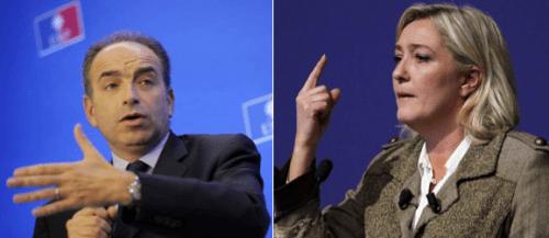 Jean-François Copé et Marine Le Pen.