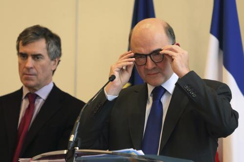 Jérôme Cahuzac et Pierre Moscovici vendredi.