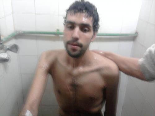 Azeddine Erroussi pendant sa grève de la faim