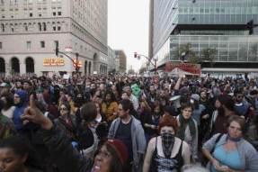 Manifestation des Indignés d'Oakland, le 25 octobre.