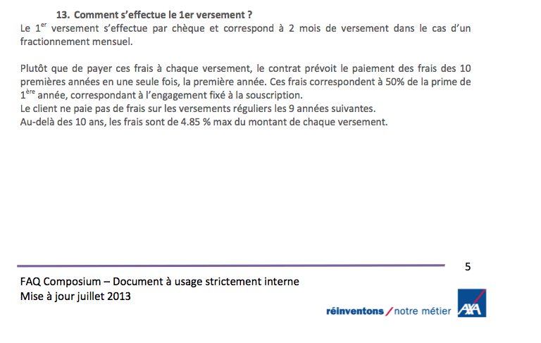 Extrait d'un document interne