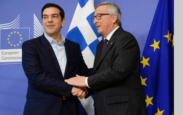 Jean-Claude Juncker et Alexis Tsipras