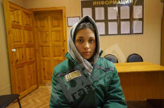Nadedja Tolokonnikova dans le camp de Mordovie, il y a quelques mois.