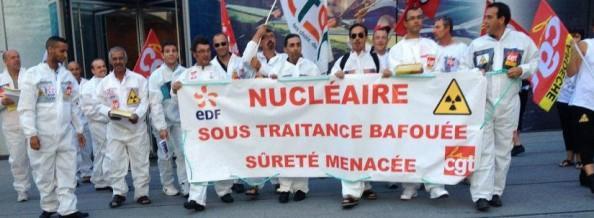 Manifestation des sous-traitants d'EDF