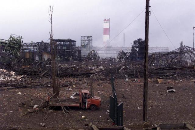 Explosion d'AZF à Toulouse, un an après.