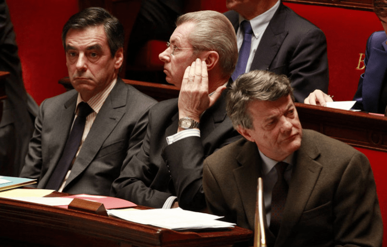 Le sénateur Henri de Raincourt (au centre), ancien ministre du gouvernement Fillon.