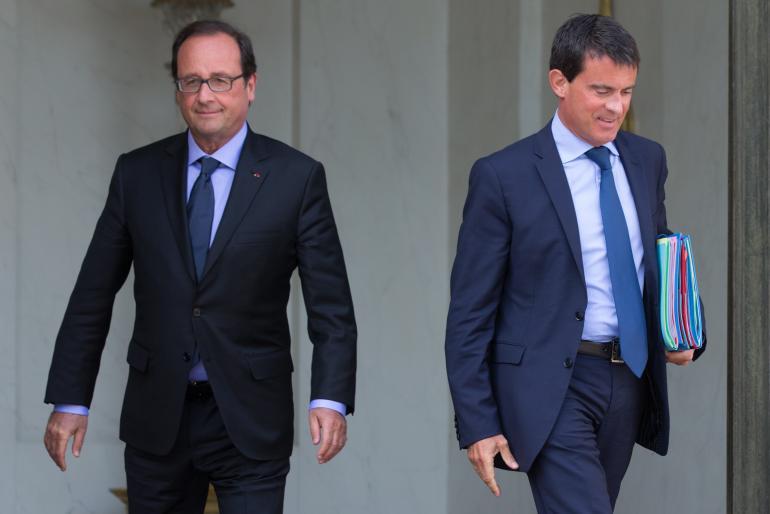 François Hollande et Manuel Valls, six heures de réunion, mardi.