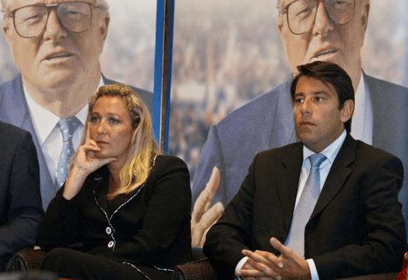 Samuel Maréchal, l'ex-mari de Yann Le Pen, ici avec Marine Le Pen.