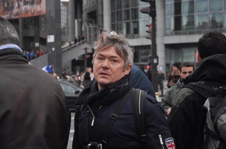 Frédéric Pichon, dans la foule, dimanche.