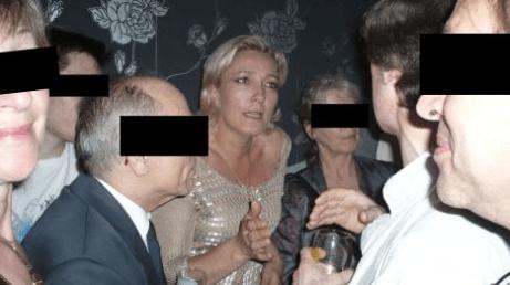 """Marine Le Pen au Local d'Ayoub, lors de la première """"100% French Pride"""" organisée par le site Fdesouche.com, en juin 2008."""