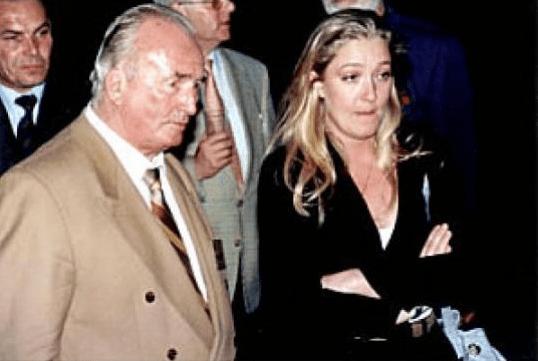 Marine Le Pen avec Franz Schönhuber.