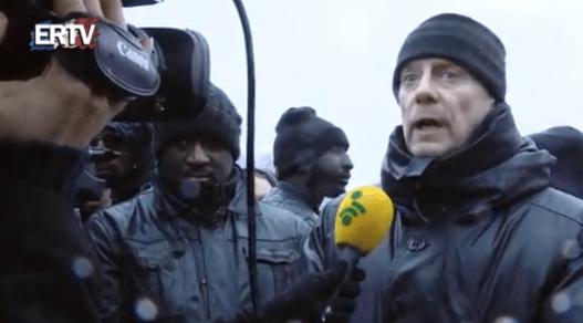 Alain Soral, dans la manifestation, le 26 janvier.