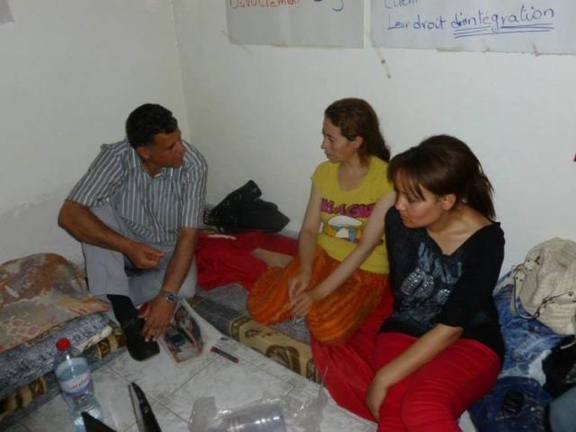 Les déléguées syndicales Monia Diri (à droite) et Sonia Jbali