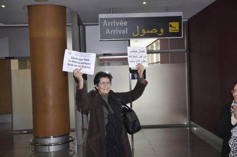 Khadija Ryadi à son retour de New York