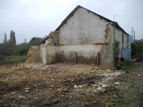 Destruction partielle de la Sécherie le 26 octobre 2012
