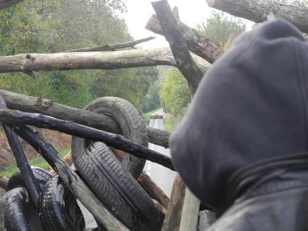 Barricade sud sur la route de Vigneux