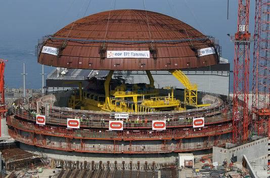 Le chantier de l'EPR de Flamanville, dans la Manche.