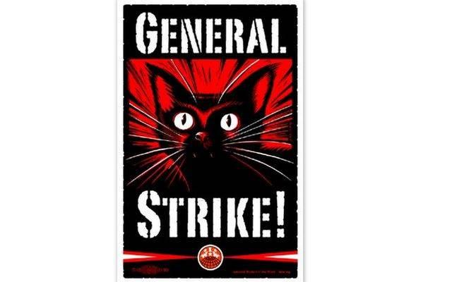 Affiche d'appel à la grève générale des Indignés d'Oakland.