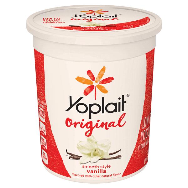 Yoplait Original Smooth Style Vanilla Yogurt 32 Oz Tub