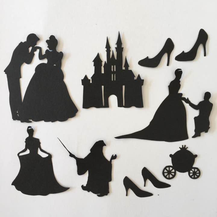 メルカリ - ディズニープリンセス シンデレラ風 切り絵セット 画用紙