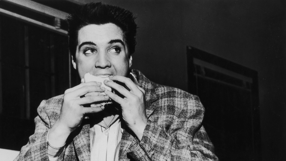 Image result for image, photo, picture, elvis, eating, sandwich
