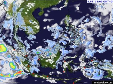Weather maps   Southeast Asia   meteoblue map map map map map