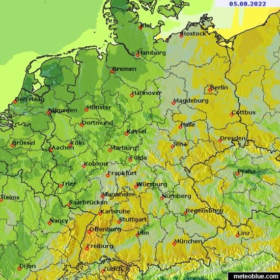 Germany Weather Map   Photo Trend   Ideas Weather maps   Germany   meteoblue