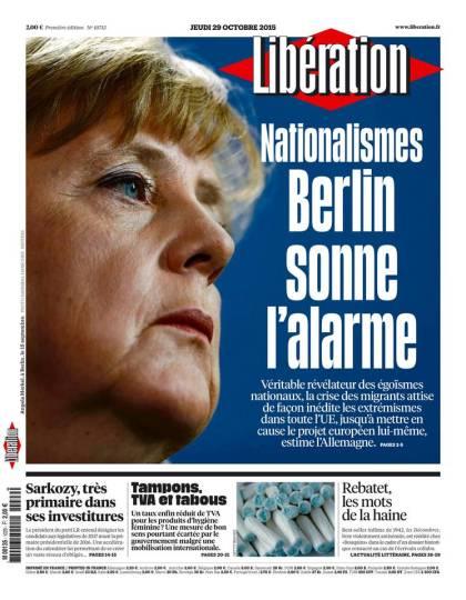 Libération du jeudi 29 octobre 2015