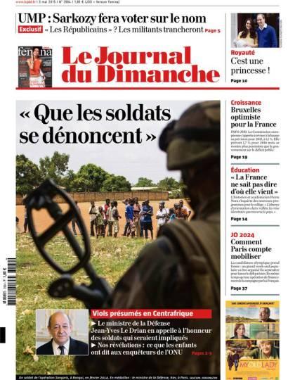 Le Journal du Dimanche n°3564 du 03 mai 2015