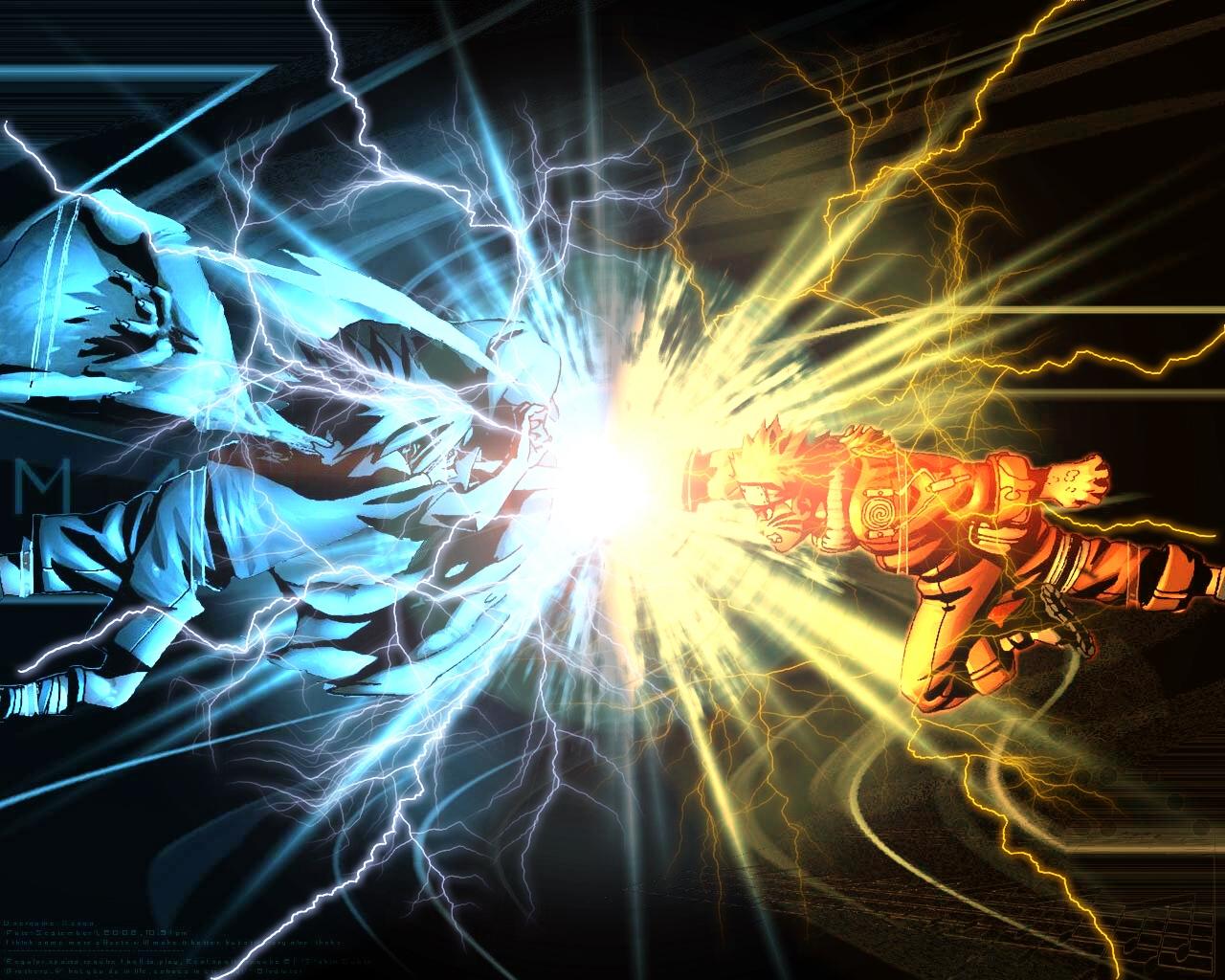 naruto wallpaper: :: chidori vs rasengan :: - minitokyo