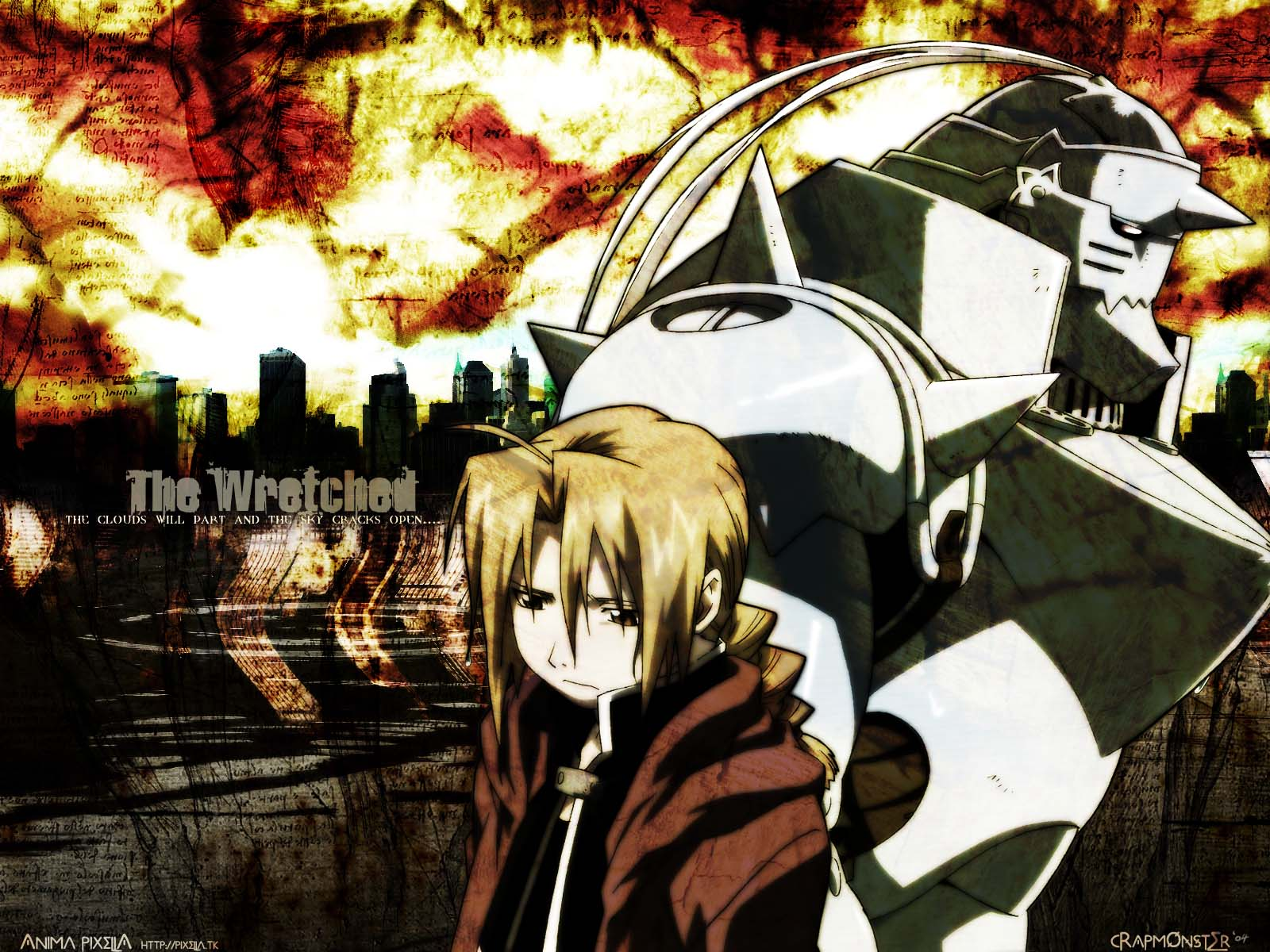 Fullmetal Alchemist Wallpaper: The Wretched (Al & Ed) - Minitokyo
