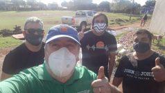 """Juan """"Huevo"""" Bidarra y todo su equipo brindaron un almuerzo solidario en la chacra 181"""