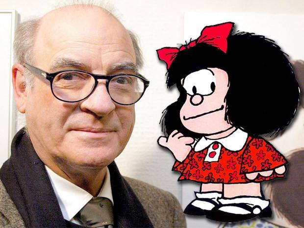 Falleció el dibujante argentino Quino, creador de Mafalda