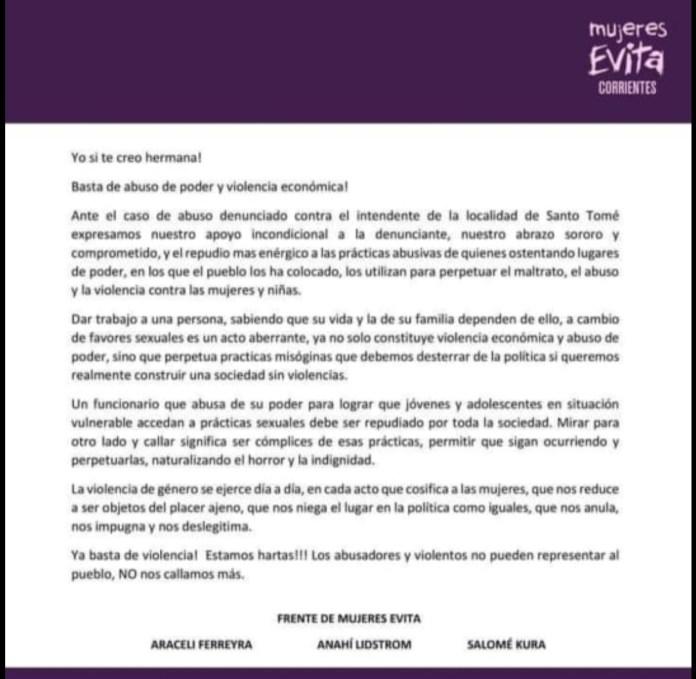 Corrientes: denuncian al intendente de Santo Tomé por presunto abuso sexual