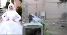 WATCH: Footage Shows Beirut Explosion Interrupting Bride's Wedding Photo Shoot in Lebanon; Bride Speaks Out