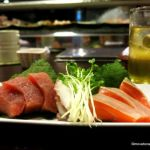 Sashimi platter at the Sushi Bar in Phnom Penh