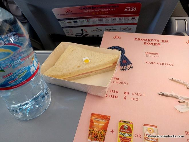 JC Airlines meal service