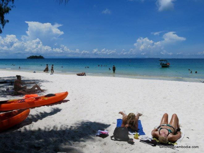 sunbathing on Koh Rong