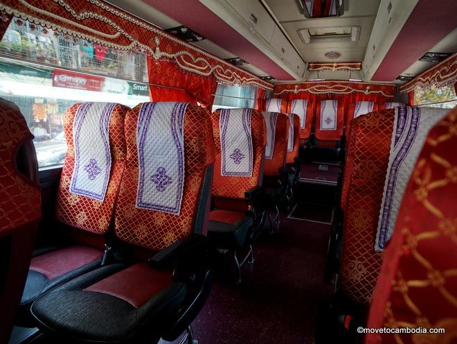 Inside of a Mekong Express bus