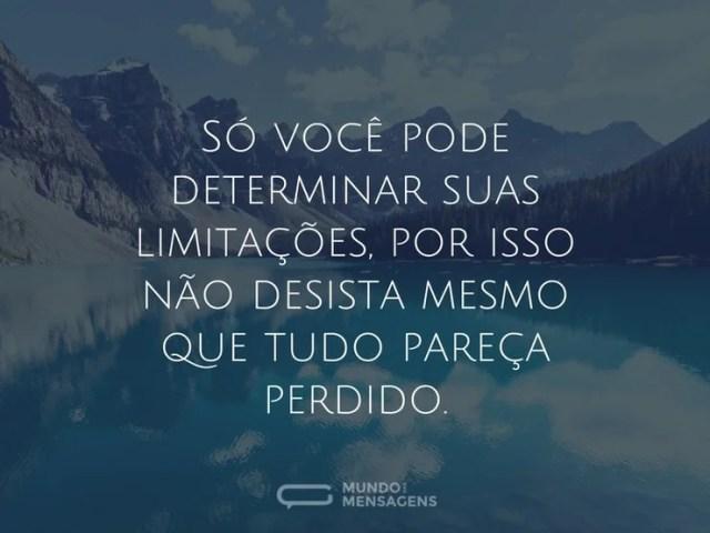 Suas limitações