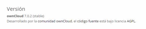 owncloud actualizado