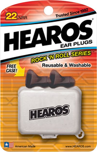 Hearos Rock n' Roll Ear Filters 2-Pack  Package