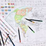 A World Map With Flags For Your Kids To Colour National Geographic