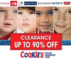 Kids faces on Cookie's sale ad