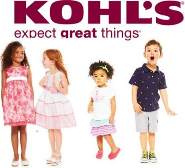 Four kids smiling in Kohl's clothes
