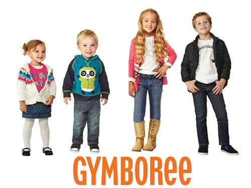 Four kids wearing Gymboree clothing