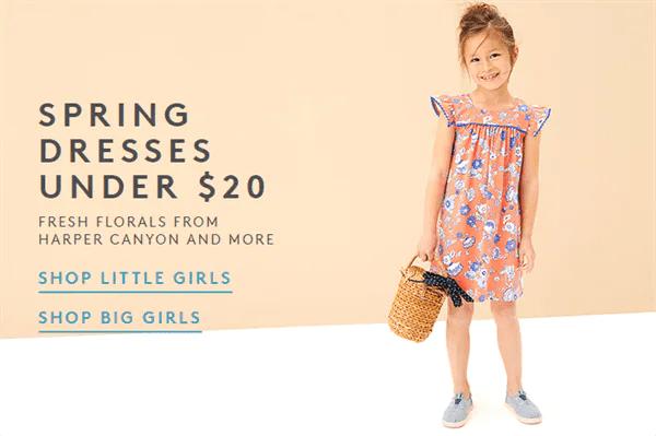 Little Girl in flower dress ad for Nordstrom Rack