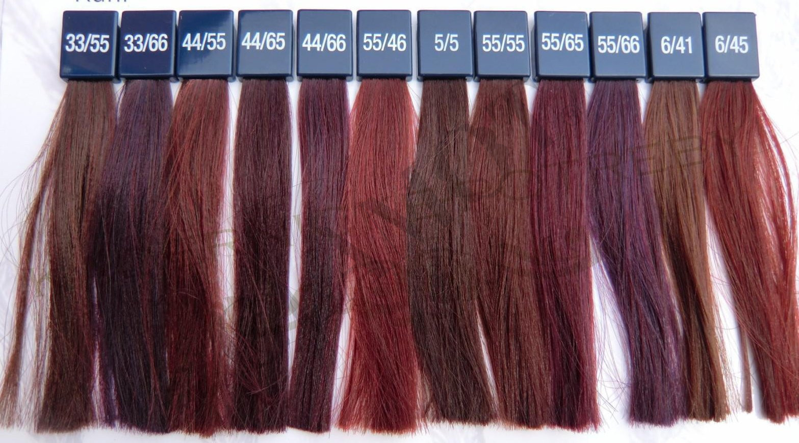 Chart Wella 44 Permanent Hair Color 55